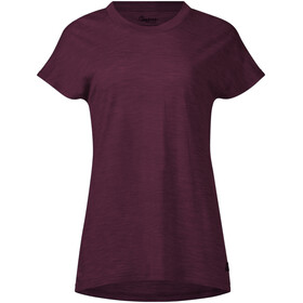 Bergans Oslo Wool Tee Women, zinfandel red